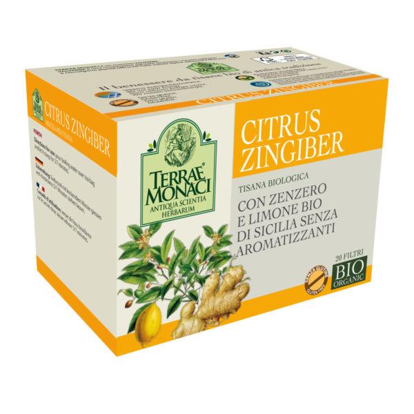 limone e zenzero citrus zingiber tisana bio terraemonaci valverbe