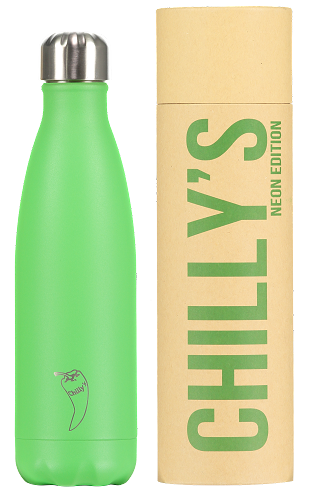 chillys bottle neon green