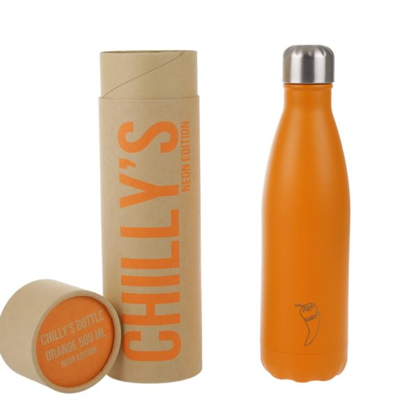 chillys bottle neon orange