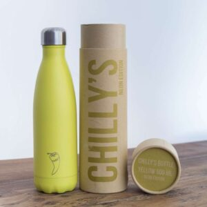 chillys bottle yellow neon