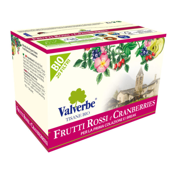 Tisana bio frutti rossi e cranberries