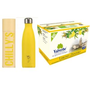 tisana limone e zenzero estate e thermos yellow chillys